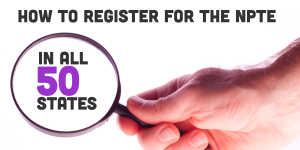 How to register for the NPTE