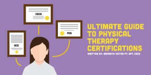 physical therapy certifications