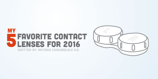 My 5 Favorite Contact Lenses for 2016