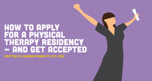 apply for physical therapy residency