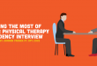 physical therapy residency interview