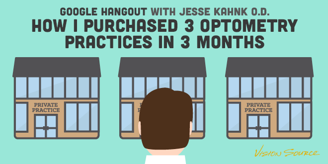 Google Hangout with Jesse Kahnk O.D. – How I Purchased 3 Optometry Practices in 3 Months