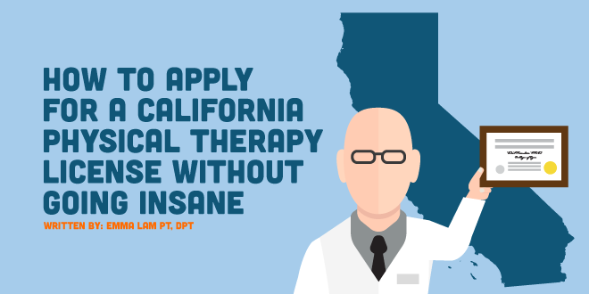 california physical therapy license