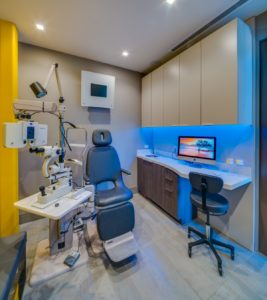 eyexam optometry office design exam room