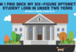 how I paid back my six-figure optometry student loan in under two years