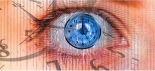 an eye that looks like a clock